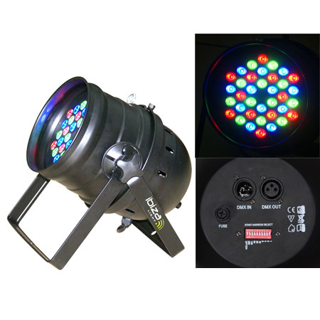 LED PAR 64 PROFESIONAL DMX 1X36W LED