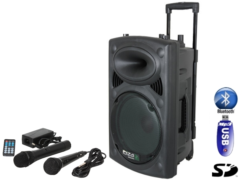 Sistem portabil Ibiza Sound  400W cu  USB/MP3/BLUETOOTH