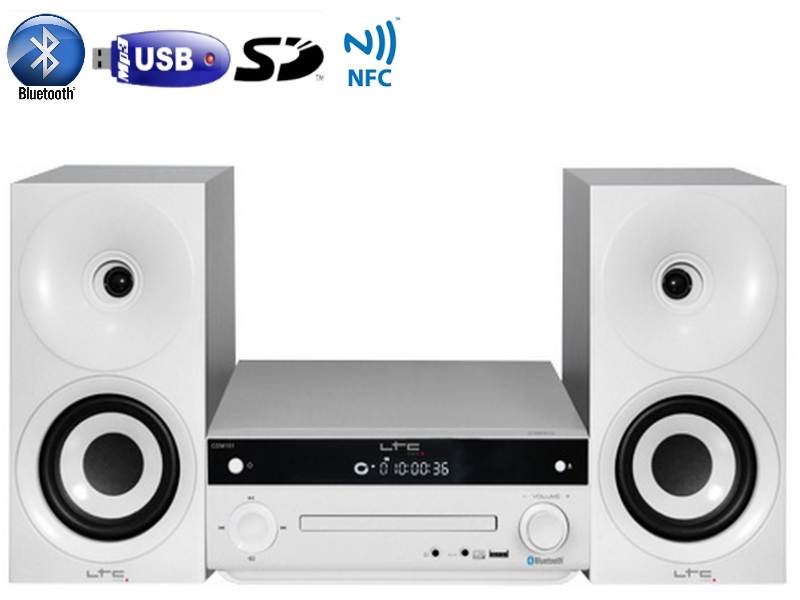 Sistem audio Ltc Audio CDM101-WH, 2 x 20 W USB
