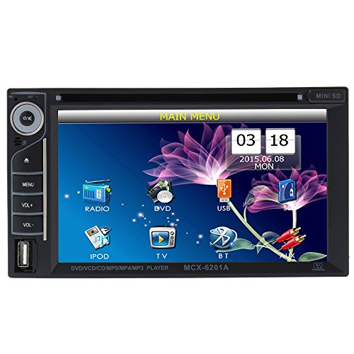 Multimedia player auto cu DVD / USB / SD , Bluetooth, Radio si ecran tactil 6,2""