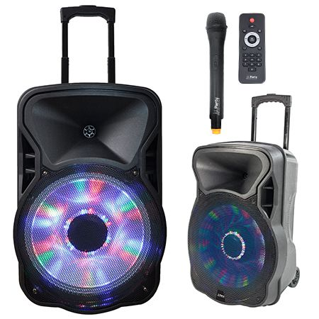 Boxa portabila Ibiza PARTY-12LED 300W cu Bluetooth, USB,Radio FM ,Iluminata