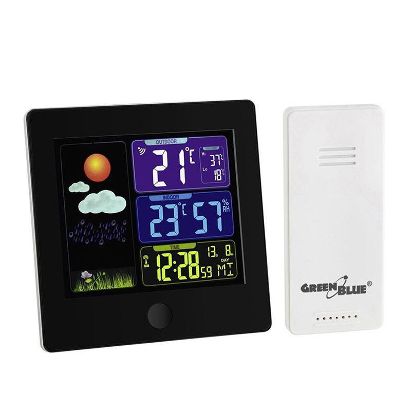 Stație meteo wireless  cu senzor extern Green Blue  GB521B