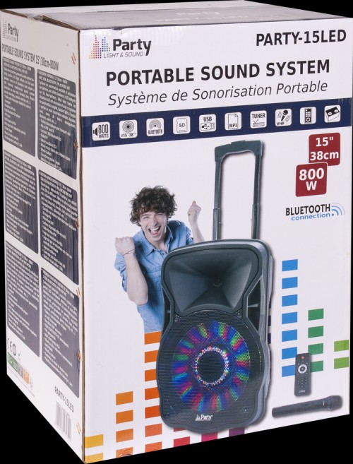 Boxa portabila Party Light&Sound - 15LED