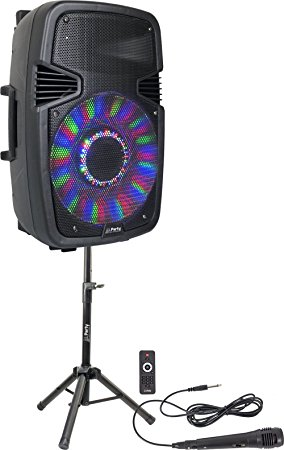 Boxa activa Party Light&Sound Party-15Pack, 800W, cu stativ si microfon