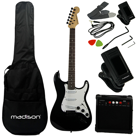 Set chitara electronica Madison MADISON-STRAT10BL
