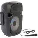 Boxa portabila iluminata led 8''/20cm - 300W CU USB, BLUETOOTH, FM & MIC PARTY-7LED